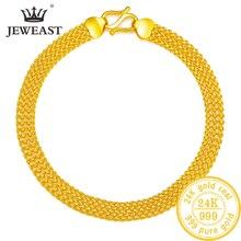 24K זהב טהור צמיד 999 מוצקים זהב צמיד יוקרתי יפה פרפר רומנטי טרנדי תכשיטים קלאסיים חם למכור חדש 2020