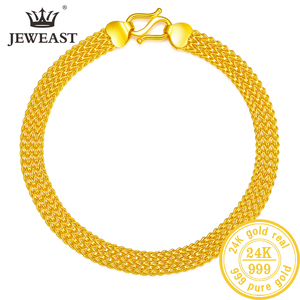 Image 1 - 24K Reinem Gold Armband Echt 999 Solid Gold Armreif Gehobenen Schöne Schmetterling Romantische Trendy Klassische Schmuck Heißer Verkauf Neue 2020