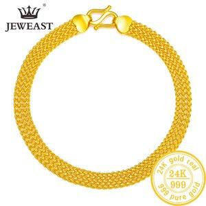 Image 1 - 24K saf altın bilezik gerçek 999 katı altın bileklik lüks güzel kelebek romantik moda klasik takı sıcak satış yeni 2020