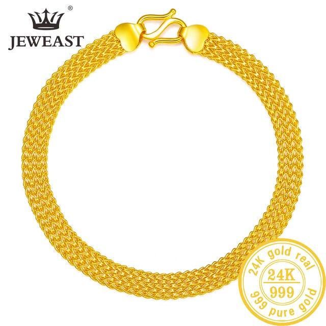 24K saf altın bilezik gerçek 999 katı altın bileklik lüks güzel kelebek romantik moda klasik takı sıcak satış yeni 2020