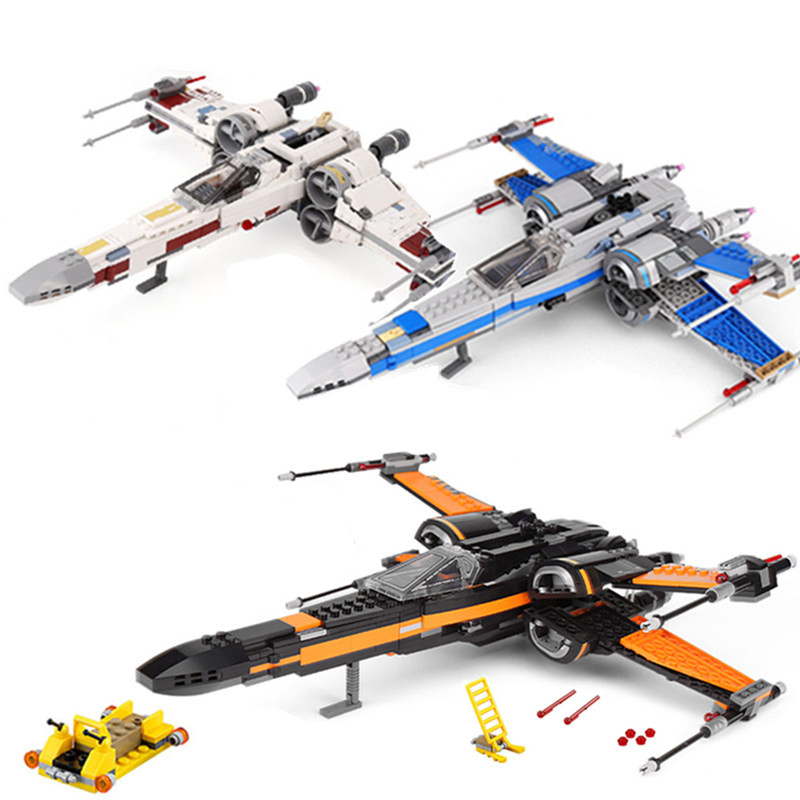 New X Wing Star Fighter Building Blocks Compatible Legoing Star Plan Wars Building Educational Toys For Children