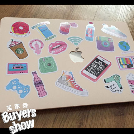 Cute pink suitcase sticker female ins computer stickers decorative stickers guitar box mobile phone shell sticker in Stickers from Home Garden