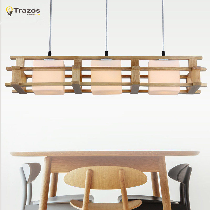 Modern Wood dinning room living room pendant lights luminaire lustres de sala led pendant fixture lamparas de techo colgante modern fashion luxury led crystal pendant lamp 6 bulb home deco dinning room lustres de cristal sala teto pendant light fixture