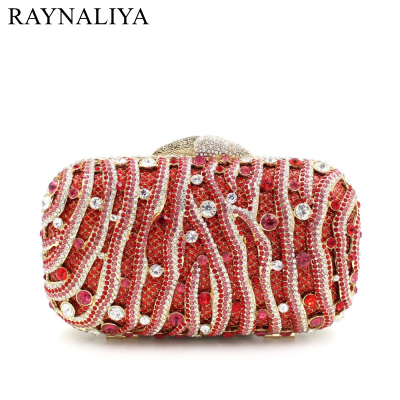 2017 New Real Minaudiere Red Hard Women Evening Bags Ladies Wedding Party Clutch Bag Crystal Diamonds Purses Smyzh-e0064 new fashion women minaudiere fashion evening bags ladies wedding party floral clutch bag crystal diamonds purses smyzh e0122 page 9