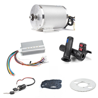 1Set Electric Motor 72V 3000W, Brushless Motor Controller 48V 72V 50A, Reverse Twist Throttle, Power Ignition Lock Scooter Kit