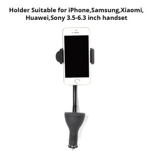 Image 3 - Cánh Tay dài Xe Người Giữ Điện Thoại Đứng Đối Với iPhone X 7 8 Xiaomi Kép USB Port Car Charger Đối Với Samsung S8 s9 3.5 6.3 inch Điện Thoại Di Động