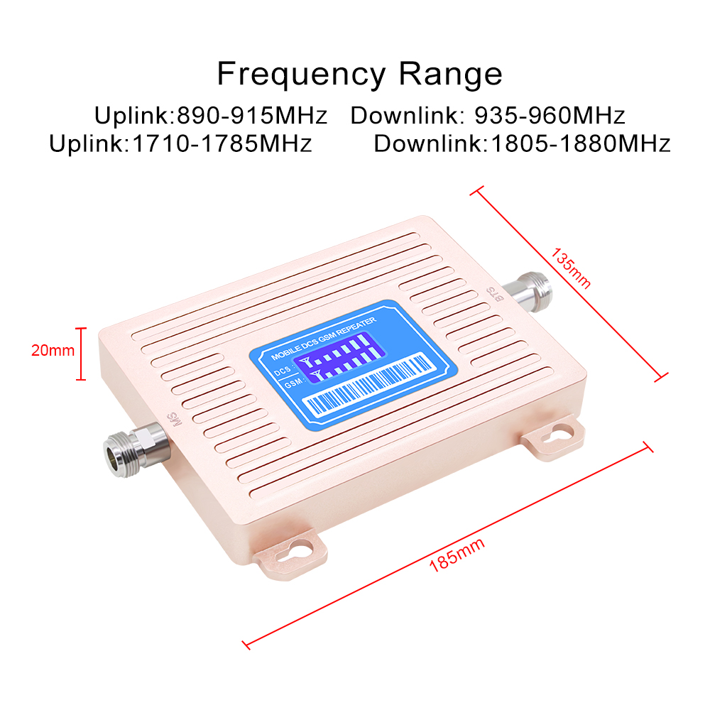 Image 2 - LCD Display GSM 900 UMTS 1800 mhz Dual Band Repeater 2G 3G 4G LTE Phone Amplifier Cellular Mobile Booster +LPDA /Ceiling Antenn-in Signal Boosters from Cellphones & Telecommunications