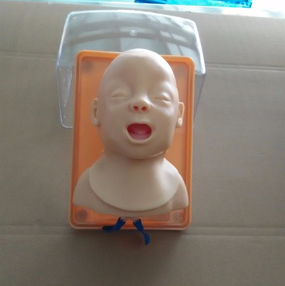 Advanced Infant Head For Trachea Intubation Model BIXJ3A  WBW173 high quality child trachea intubation model intubation training model with soft and vivid head and trachea
