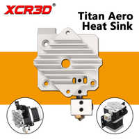 Peças de impressora xcr3d titan aero bloco refrigeração alumínio v6 titan extrusora curto alcance hotend 1.75mm radiador 1pc