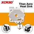 XCR3D части принтера titan Aero радиатор алюминиевый блок охлаждения V6 titan экструдер короткий диапазон Hotend 1,75 мм радиатор 1 шт.