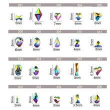 20pcs New Crystal Shiny 3D Nail  Art Rhinestones AB Colorful Horse Eye/Waterdrop/Diamond DIY Decor