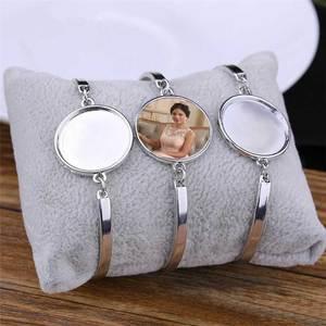 Image 2 - Sublimacji puste bransoletki dla kobiet moda hot druk transferowy bransoletka biżuteria diy materiały eksploatacyjne New arrival 20 sztuk/partia