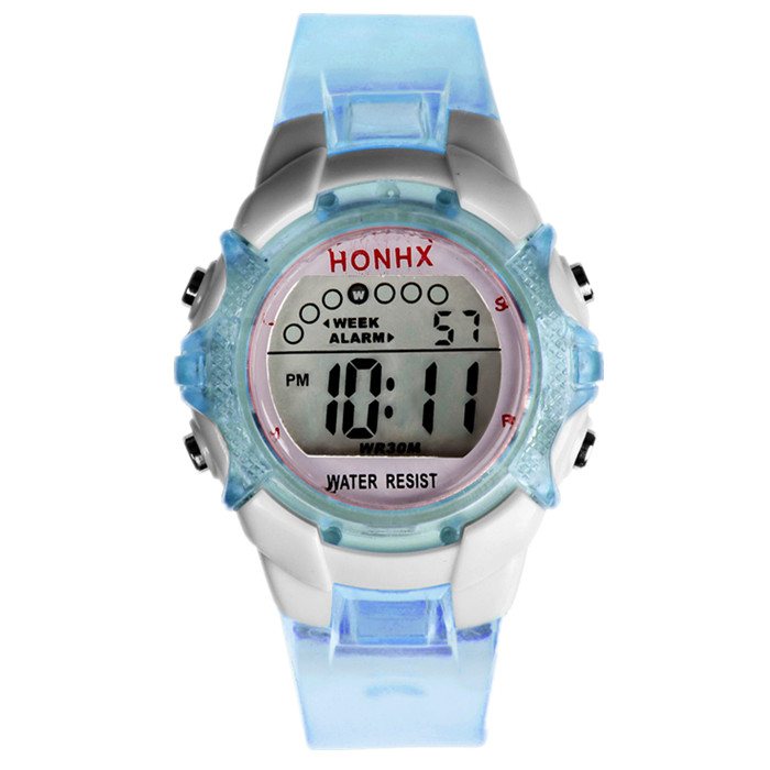 Watches Symbol Of The Brand Kids Boys Girls Unicorn Printing Soft Rubber Fashion Digital Led Watches Wholesale Children Students Rainbow Luminous Watches Clear And Distinctive