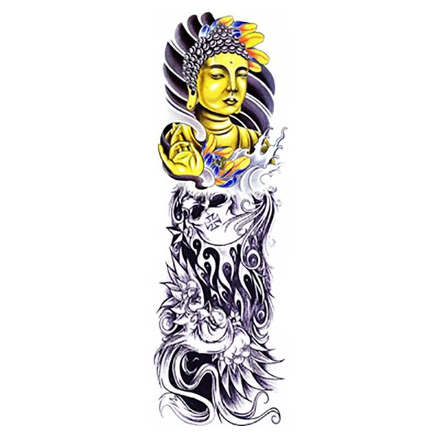 Tatuaggio oro buddha grande impermeabile body art for Carpa koi costo