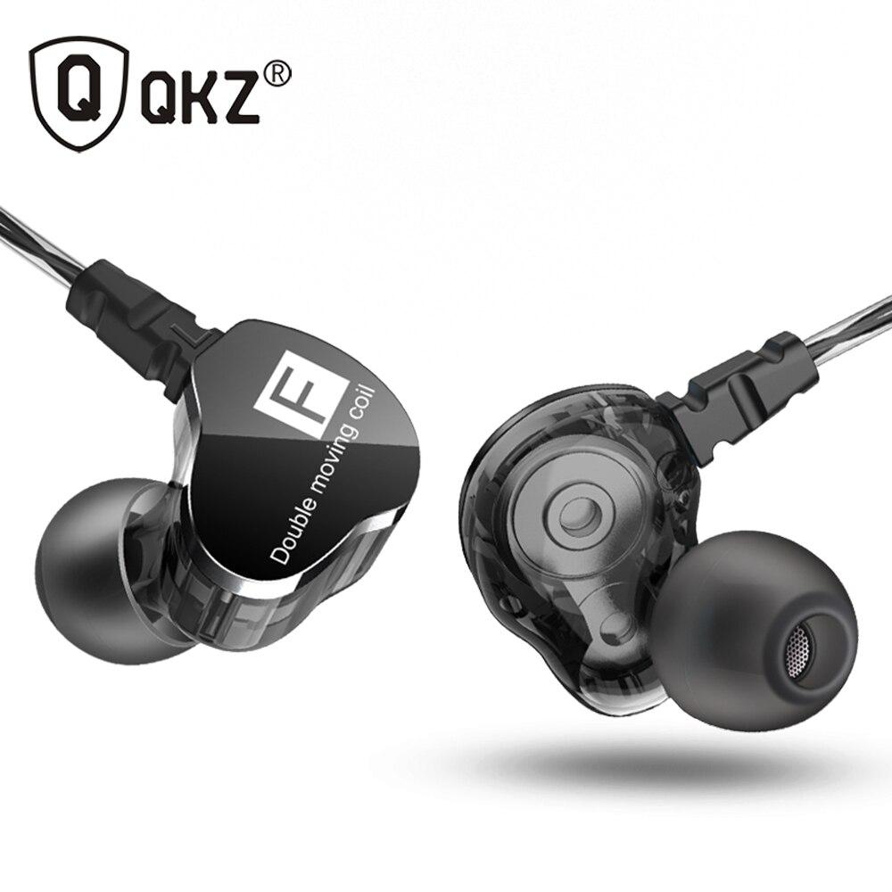 Date QKZ CK9 Double Unité D'entraînement Dans L'écouteur D'oreille Basse Subwoofer Écouteurs HIFI DJ Monito de Course Sport Écouteurs Casque Intra-auriculaires