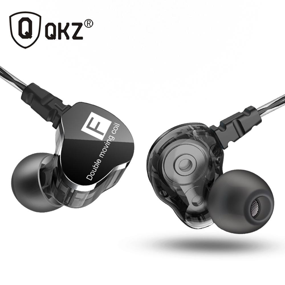 Newest QKZ CK9 Double Unit Drive In Ear Earphone Bass Subwoofer Earphone HIFI DJ Monito Running Sport Earphone Headset Earbud qkz kd8 dual driver noise isolating bass in ear hifi earphone for phone wired stereo microphone control headset for music