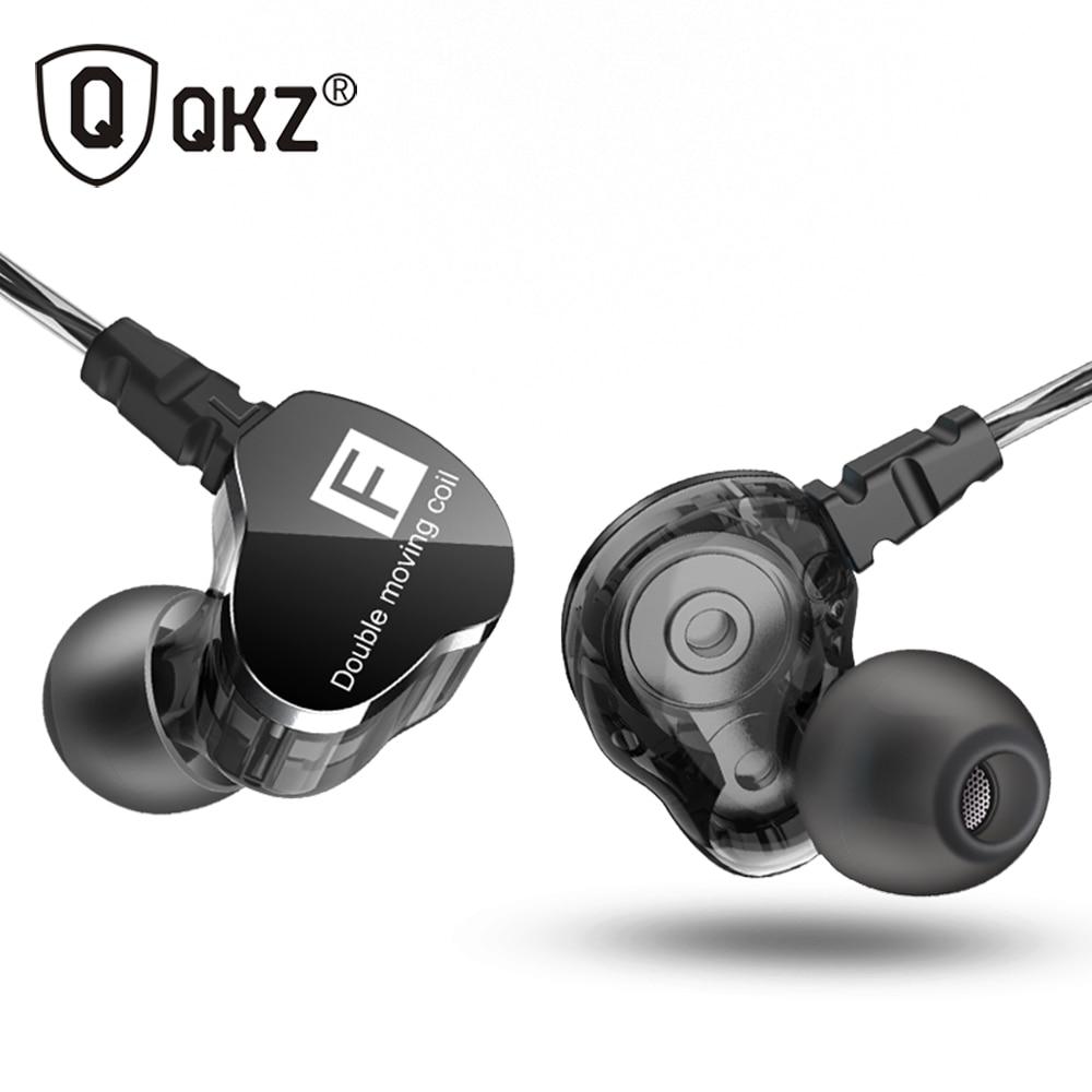 Newest QKZ CK9 Double Unit Drive In Ear Earphone Bass Subwoofer Earphone HIFI DJ Monito Running Sport Earphone Headset Earbud