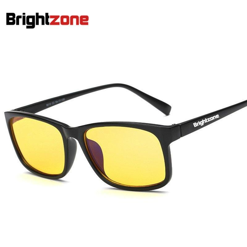 f031d6cbe Brightzone مكافحة نظارات الضوء الأزرق الرجال النساء توقف العين وصمة عار  النوم بشكل أفضل الدفاع الإشعاع الكمبيوتر ليلة القيادة الألعاب نظارات