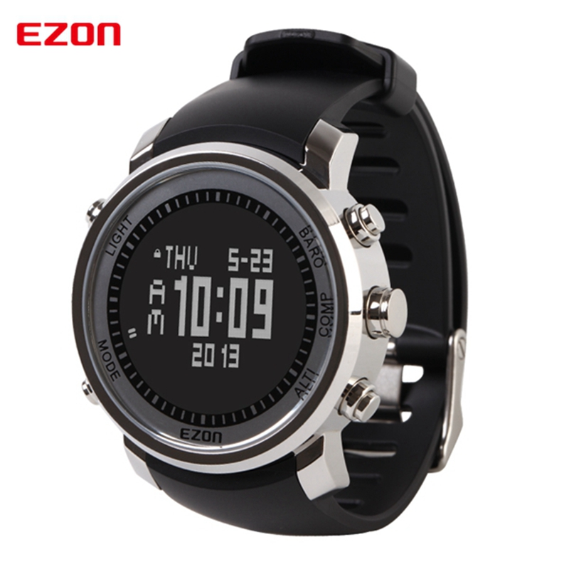 Niohuru Men Watch Compass Barometer Altimeter Multifunctional Hiking Climbing Outdoor Sports Watches Digital Wristwatch H506