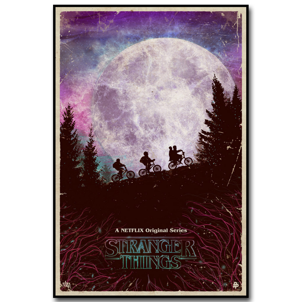 Stranger things art silk poster print 13x20 20x30 inch tv for Living room 12x18