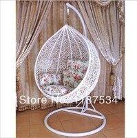 Из ротанга, кресла качалки подвесное кресло шар мяч стул современный гамаки патио Качели этап размахивая подвесные корзины