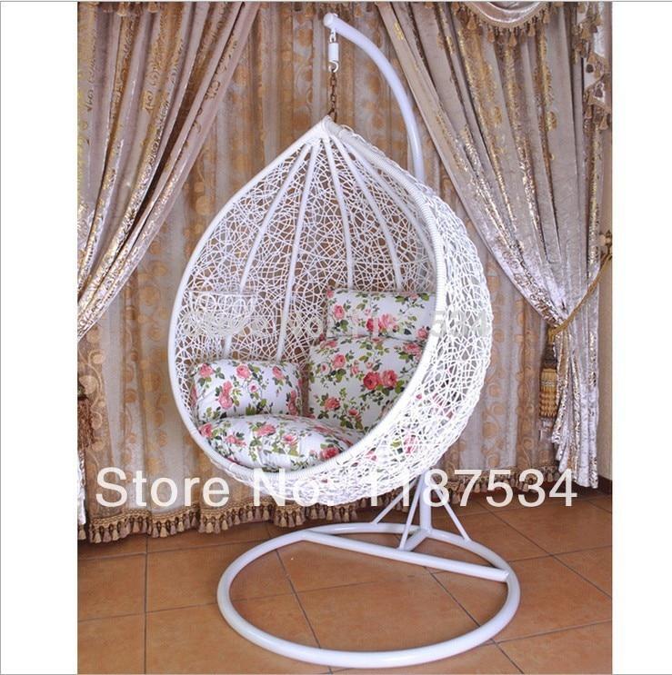Hanging Rattan Chair Folding Upholstered Rocking Ball Modern Hammocks Patio Swings Swinging Stage Basket