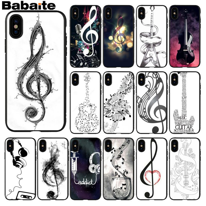Babaite Music In The World Novelty Fundas Phone Case Cover For Apple Iphone 8 7 6 6s Plus X Xs Max 5 5s Se Xr Cellphones Extremely Efficient In Preserving Heat Phone Bags & Cases