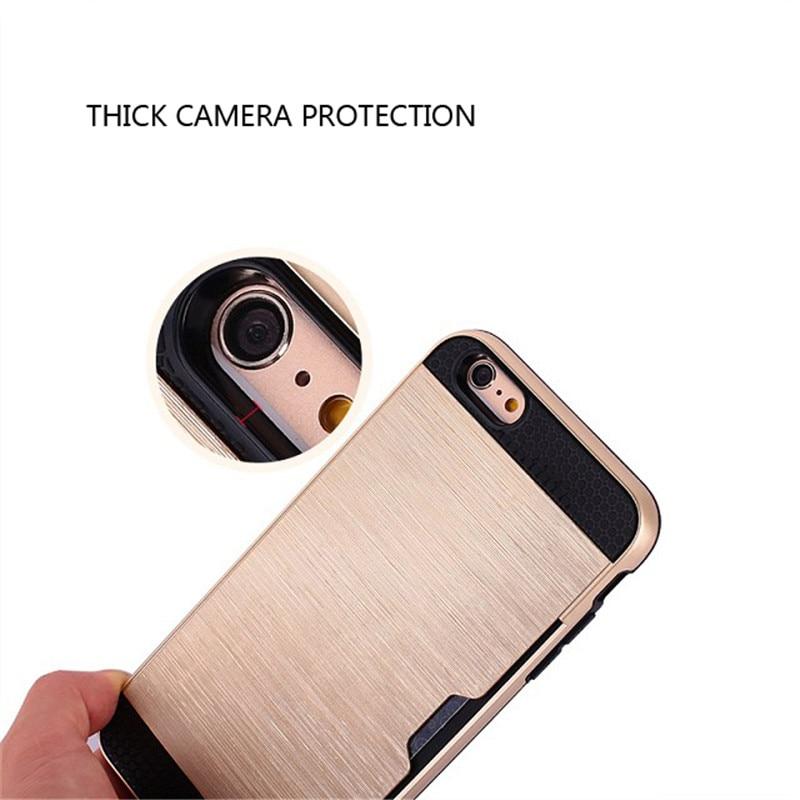 Para el caso del iphone 7 Coque de plástico de silicona metálica - Accesorios y repuestos para celulares - foto 4