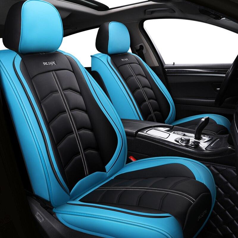 Nouveau sport PU cuir auto housses de siège de voiture pour lifan solano x50 cadillac escalade toyota vitz mini changan cs35 auto accessoires
