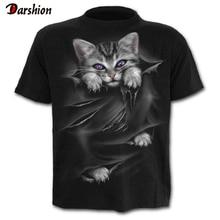 Nuevo gato 3D impreso camiseta Casual de manga corta cuello redondo moda impresa 3D camiseta hombres/mujeres camisetas de alta calidad camiseta Hombre