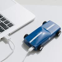 10000mAh Portable Power Bank Car Shape Mobile Power Bank External Battery LED Light Poverbank For iPhone Xiaomi Red