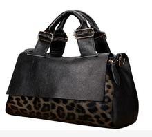 Brand genuine leather bag  new handbag leopard bag leather fashion handbags/bags handbags women famous brands 50ZA