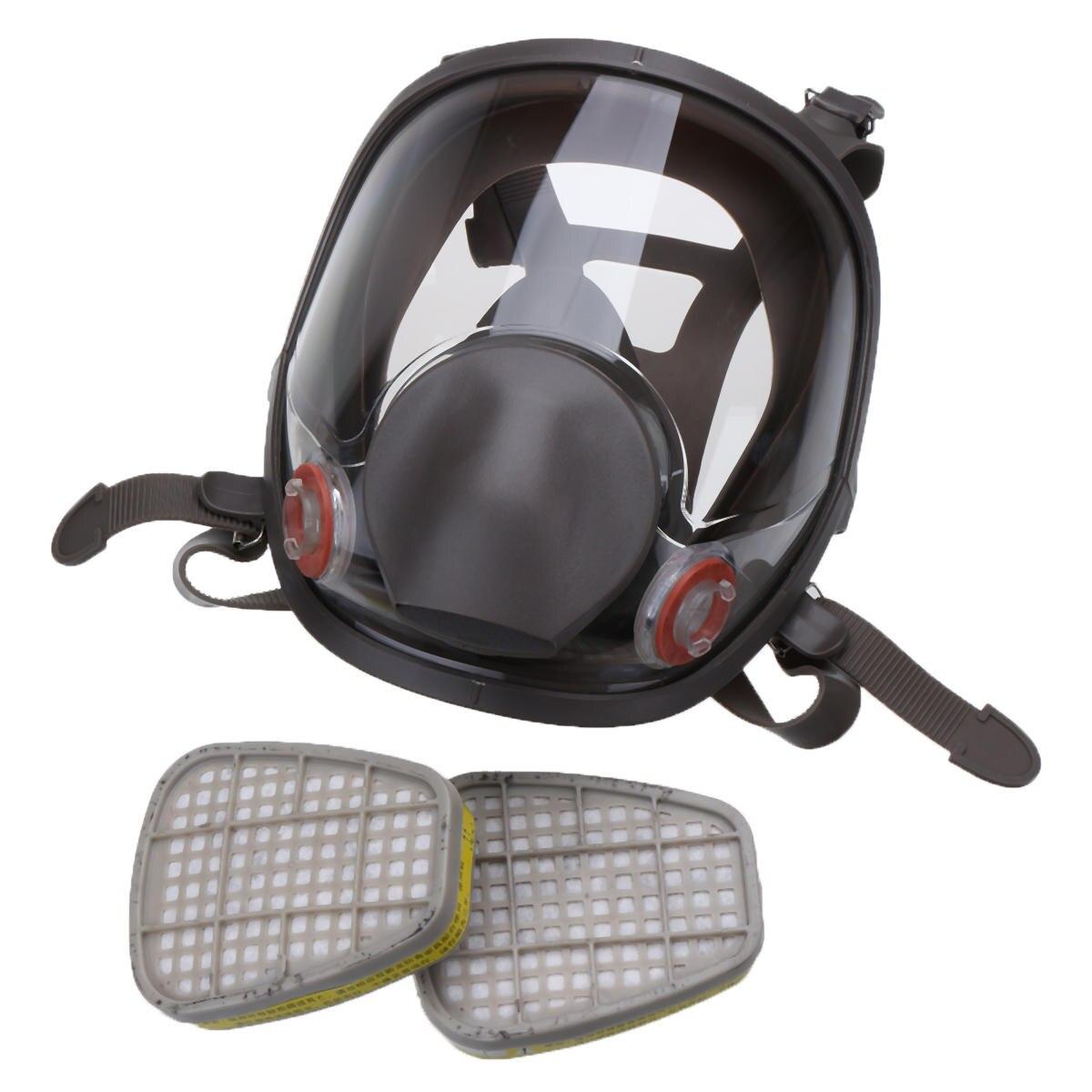 3 en 1 costume peinture pulvérisation similaire pour Silicone visage complet masque respiratoire réutilisable 6800 gaz masque de protection - 6