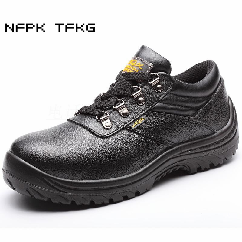 big size men black steel toe covers work safety shoes soft leather anti-pierce platform light comfort security boots protective ce certification tigergrip rubber anti slip work shoes s size women protective safety shoe covers lady s kitchen shoes