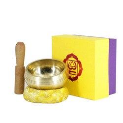 Непальская чаша Будды Тибета ручной работы, чаша, церемониальная музыкальная терапия, медный колокольчик, медная тибетская Поющая чаша, мед...
