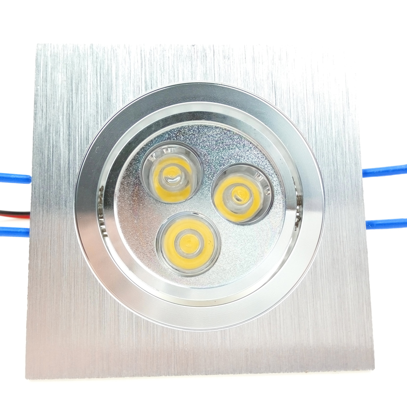 Square Flush Mount LED Lights Ceiling Spot 6W 3W 110V 220V Recessed Spotlight Dimmable Lamparas for Supermarket Living room CE