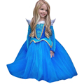 New Christmas 2016 baby princess dress printed dress the girl long sleeve clothes children birthday party dress princess dress
