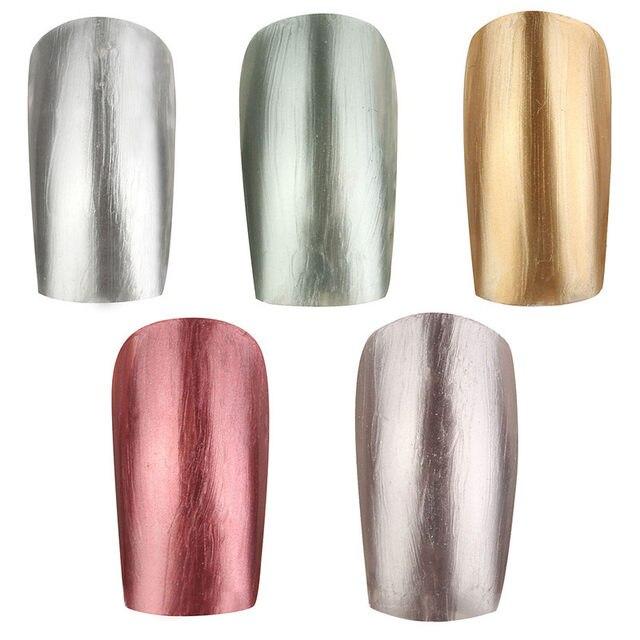 Tienda Online Profesional 1 unids 10 ml 5 colores espejo metálico ...