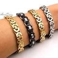 Punk Man Jewelry Stainless Steel Bracelet Men Byzantine Chain Bracelet Jewellery New 2016 Party Gift, Drop Ship!! AB150