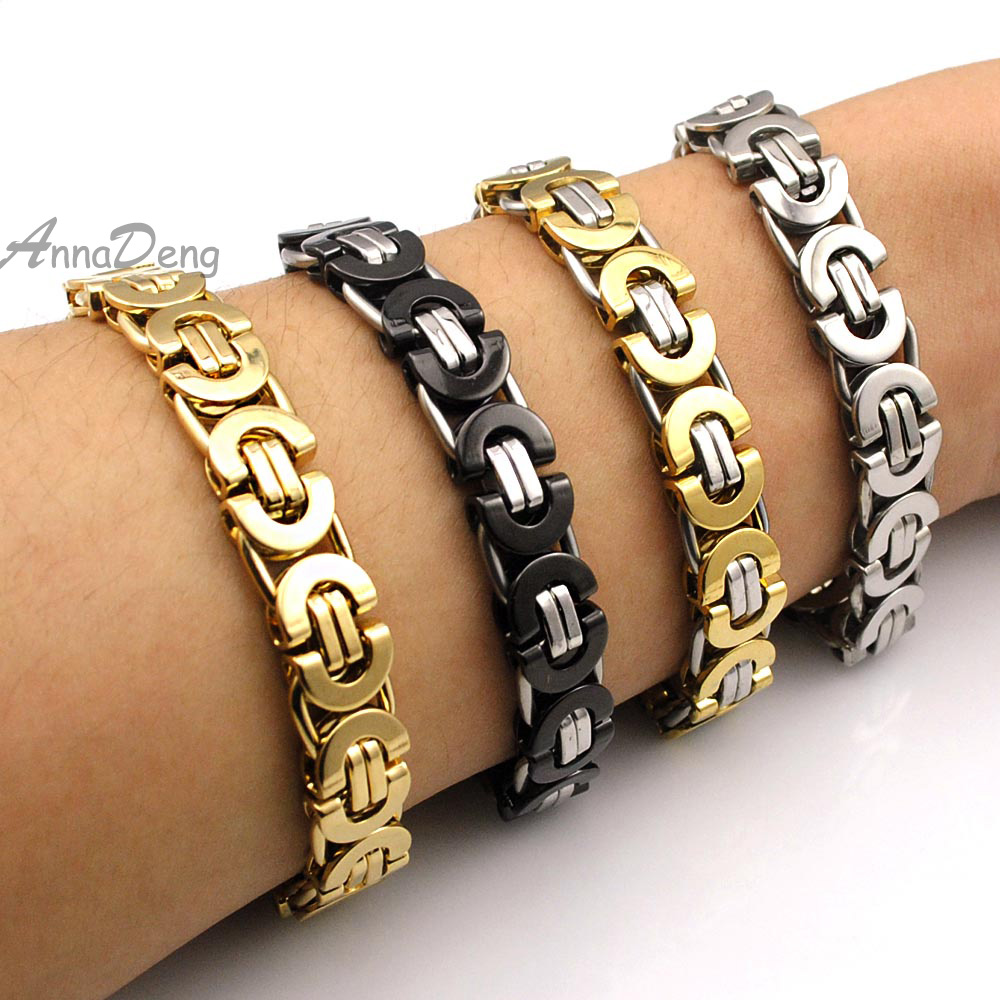 Punk Man Jewelry Stainless Steel Bracelet Mens