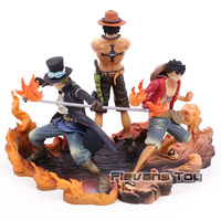 One Piece Luffy Ace Sabo Brother Brotherhood Battle Ver. PVC Figures Collection Model Figurine Toys 3pcs/set