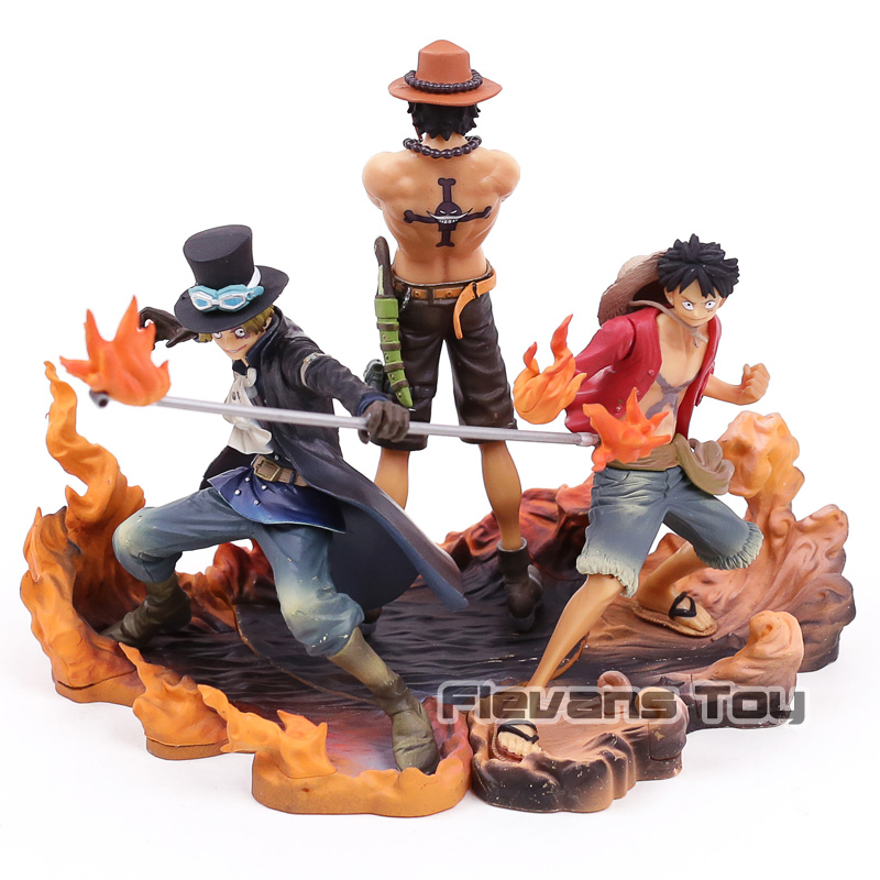 One Piece Luffy Ace Sabo Brother Brotherhood Battle Ver. PVC Figures Collection Model Figurine Toys 3pcs/setOne Piece Luffy Ace Sabo Brother Brotherhood Battle Ver. PVC Figures Collection Model Figurine Toys 3pcs/set