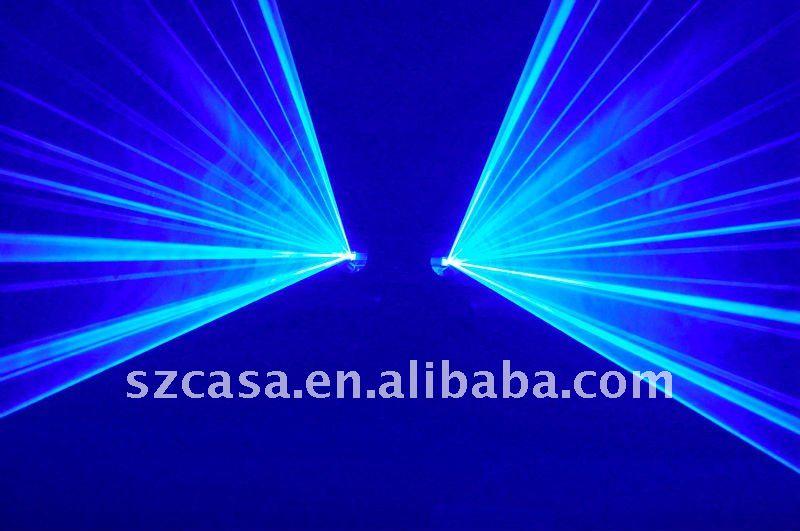 SOUND sensitivity control 2 lens blue laser light bar pub disco stage effect lights