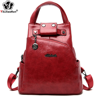 Fashion Women Backpack Shoulder Bag High Quality Pu Leather Women Backpack Large Capacity Anti Theft Backpacks Travel Bags brand new women backpack large capacity computer bag fashion black bags high quality travel rucksack backpacks