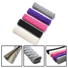 2Pcs/Lot Fashion Car Seatbelt Shoulder Pad Comfortable Driving Seat Belt Vehicle Soft Plush Auto Seat Belts Strap Harness Cover