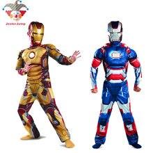 e4718e0a52b Homem De Ferro Marca de Purim Costume Suit Halloween Natal Avengers  Superhero Ironman Traje Para Crianças