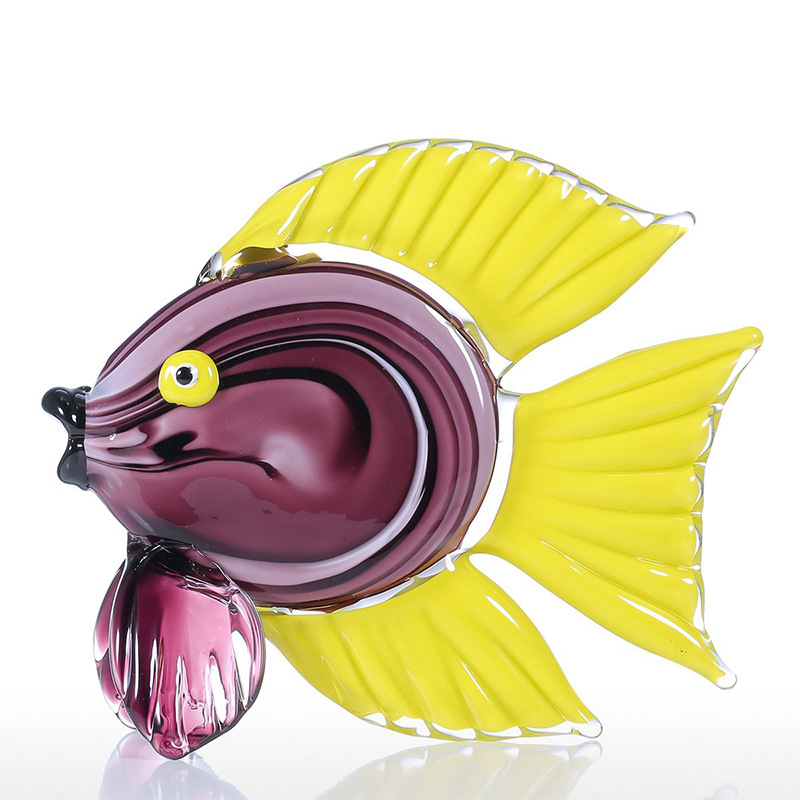 Animal Figurine Tropical Featured Fish Glass Sculpture Home Decor Animal Ornament Gift Craft Decoration New Year Gift R485Animal Figurine Tropical Featured Fish Glass Sculpture Home Decor Animal Ornament Gift Craft Decoration New Year Gift R485
