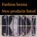 Henna Nail Art Stickers Silver black zipper Mixed Designs Watermark nails tips Decals Wraps Nail Art Tools