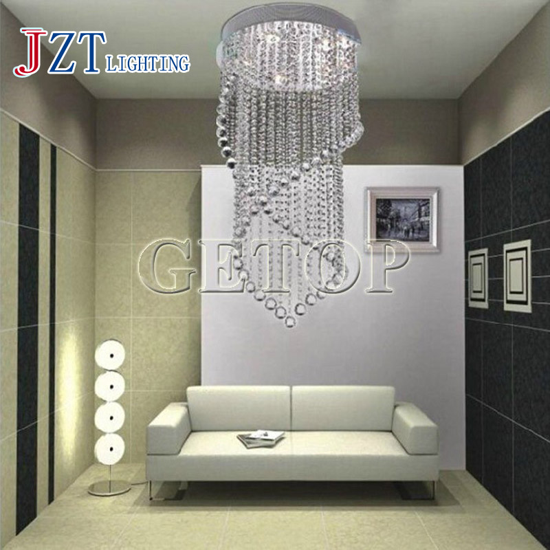 J Best Price Modern Crystal Ceiling Light Fixture Crystal Lamps Parlor Hanging Wire LED Crystal Lamp Double Helix Crystal Light j best price modern fashion crystal lamp rectangle restaurant ceiling lamp sitting room partition lamps led ceiling light