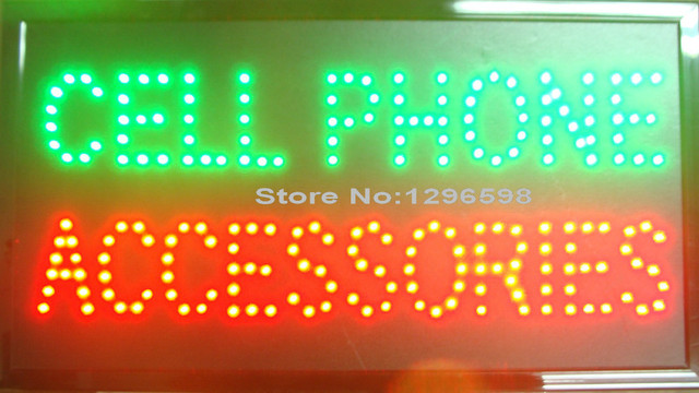 CHENXI direct sale led cell phone accessoriescustom sign 10*19 inch semi-outdoor ultra bright advertising running signage
